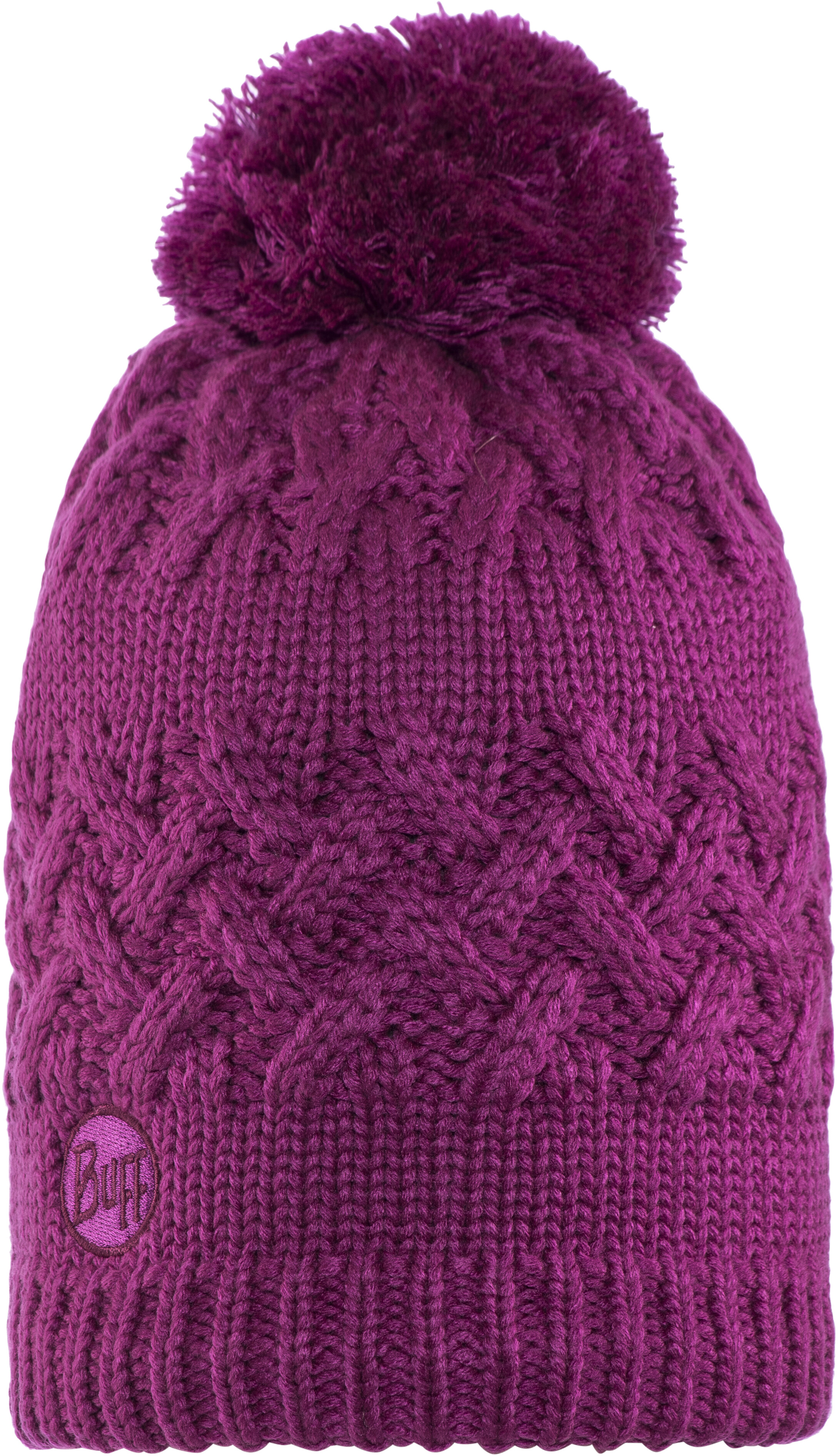 7b674a41862 Buff Savva Knitted   Polar Fleece Hat Mardi Grape